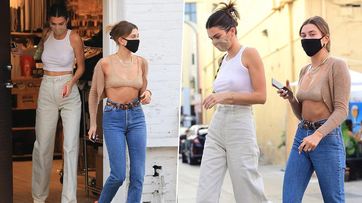Let's Take a Moment to Appreciate Kendall Jenner and Hailey Bieber's Street Style that's Equal Parts Chic and Casual (View Pics)