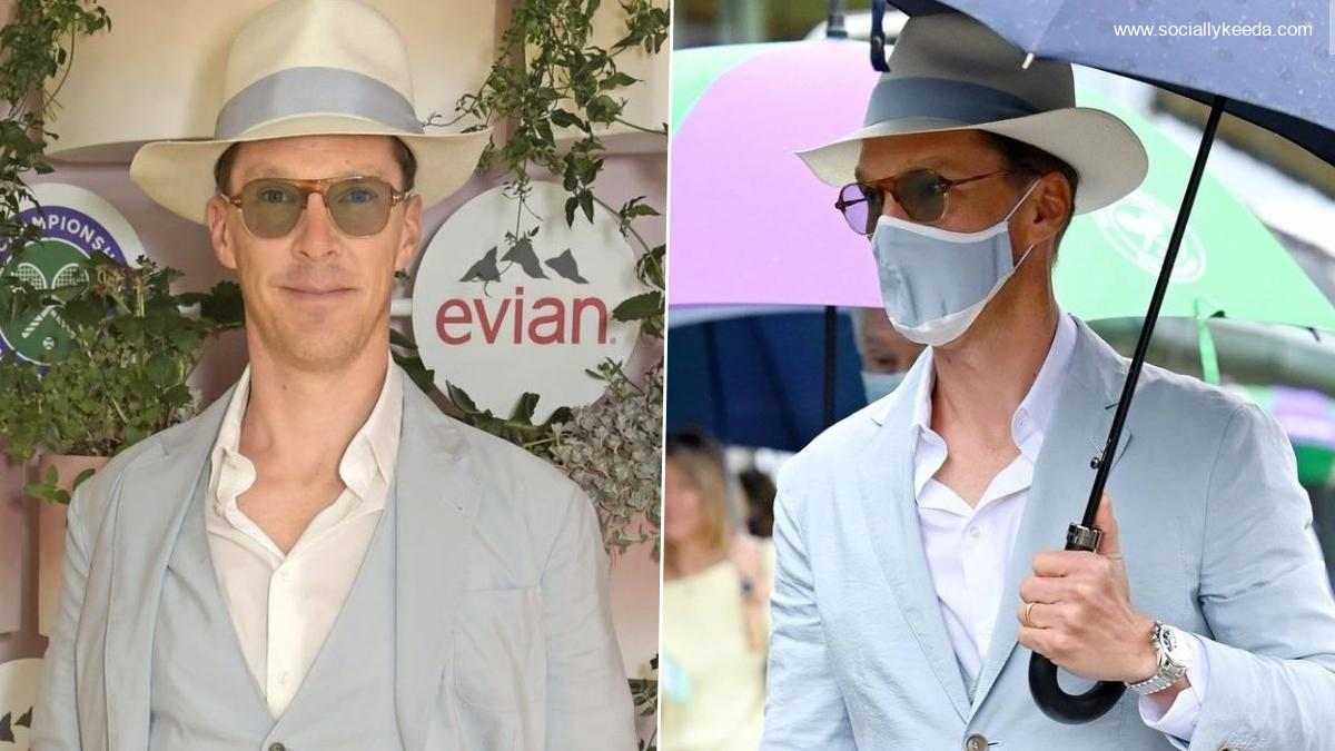 Benedict Cumberbatch Attends Wimbledon 2021 in Light Blue Suit, Sends Fashion Lovers Into A Tizzy (View Pics and Video)